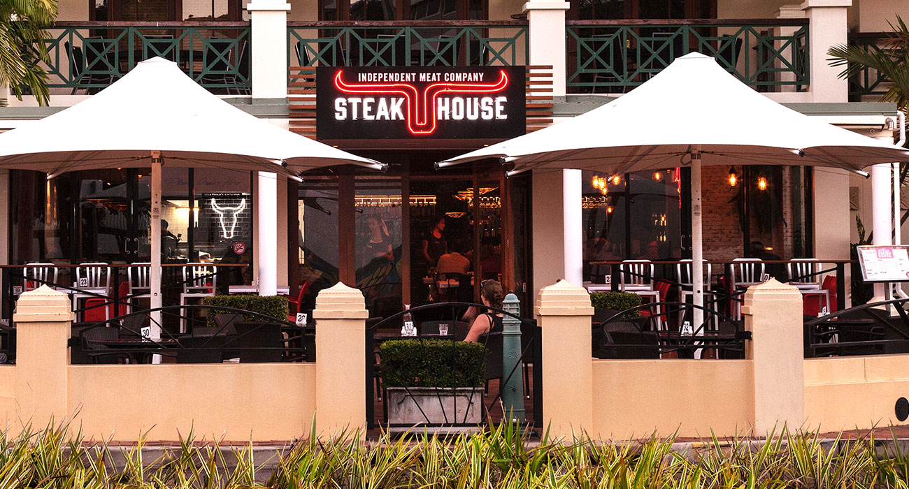 IMC Steakhouse signage