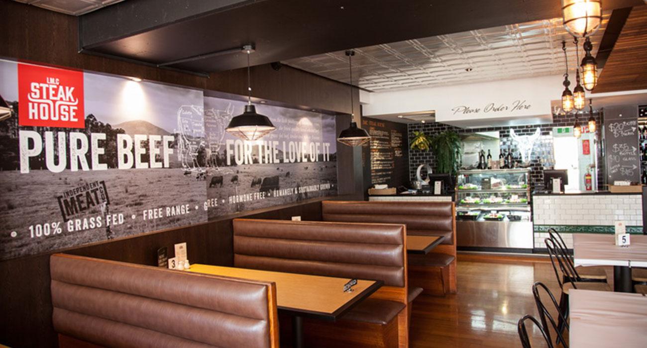 IMC steakhouse interior
