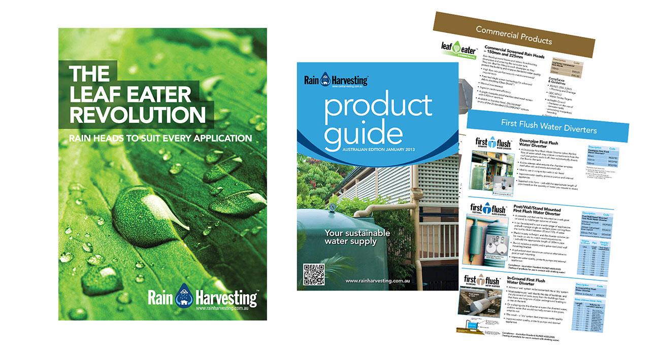 Rain Harvesting brochures